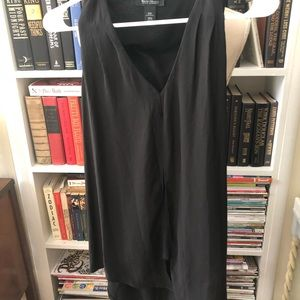 WHBM size xxs black asymmetrical sleeveless blouse